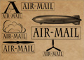 PS Brush - Airmail Stamps